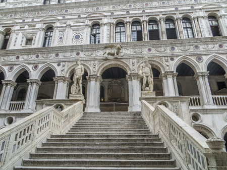 Venice, Italy - Doges Palace - The Stairway of Giants