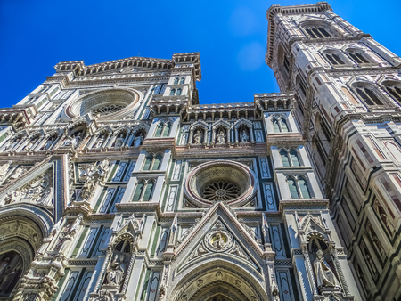 Florence, Italy - Florence Duomo & Giottos Bell Tower Front Fa�ade