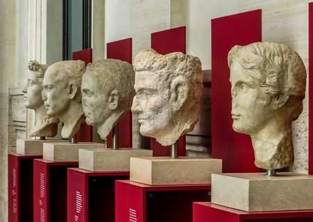 busts: Rome, Italy - National Museum - Ancient Roman Busts