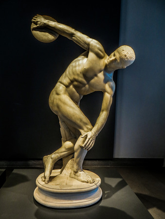 discus: Rome, Italy - National Museum - Discus Thrower Ancient Sculpture