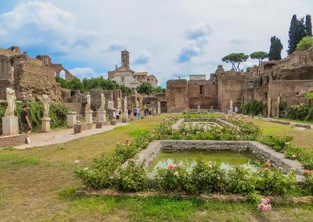 vestal: Rome, Italy - Ancient Roman Forum - House of the Vestal Virgins