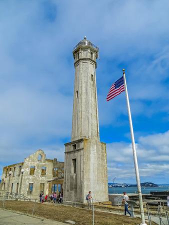 alcatraz: San Francisco, CA USA - Alcatraz Prison Lighthouse Editorial