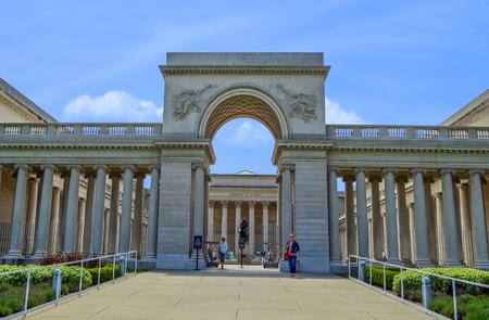 San Francisco, CA USA - The Legion of Honor - Entrance