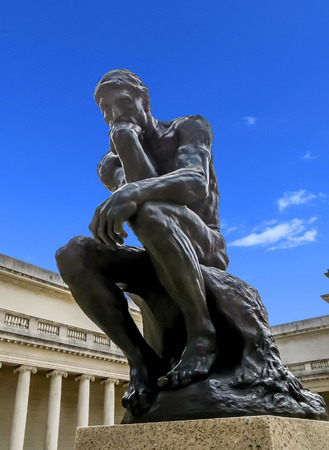 San Francisco, CA USA - The Legion of Honor - Rodins The Thinker