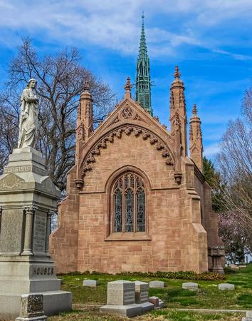 missouri: Saint Louis, MO USA - Bellefontaine Cemetery Buschs Mausoleum