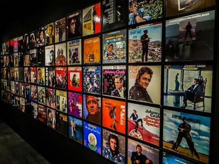 Nashville, TN USA - Johnny Cash Museum Wall of Albums