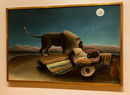 New York City MOMA - Henri Rouseau - The Sleeping Gypsy