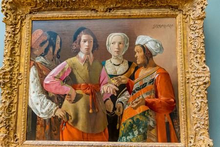 New York City The Met - Georges de La Tour -  Fortunate Teller Editorial
