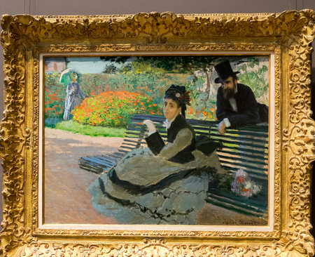 New York City The Met - Claude Monet - Camile Monet on a Bench