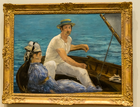New York City The Met - Edouard Manet - Boating Editorial