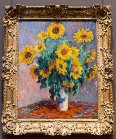 New York City The Met - Claude Monet - Bouquet of Sunflowers
