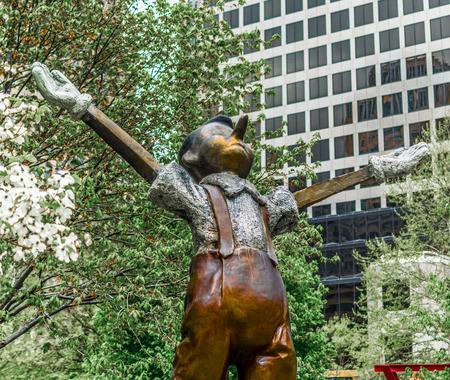 Saint Louis City Garden Pinochio Sculpture