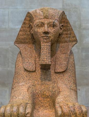 New York City The Met - Egyptian Sphinx Artifact