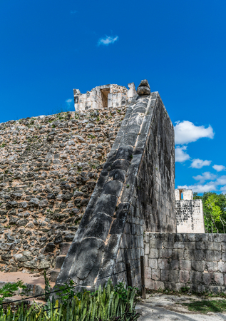 Temple of the Bearded Man in Chichen Itza, Mexico Stock Photo