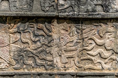 Platform of Eagles in Chichen Itza, Mexico