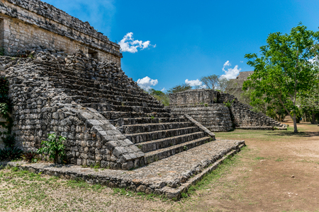 Ek Balam Mayan Acropolis, Temples, and Ruins Stock Photo