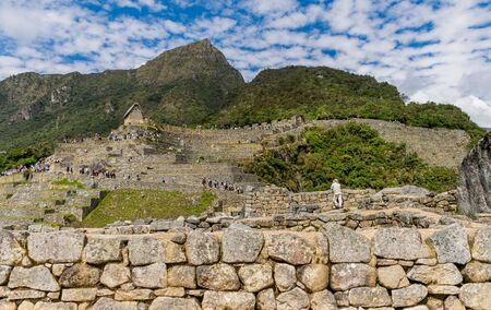 Upper Agricultural Section at the Inca site of Machu Picchu in Peru.