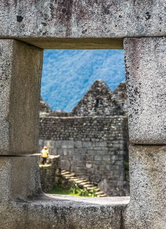 Mortar District at the Inca site of Machu Picchu in Peru.