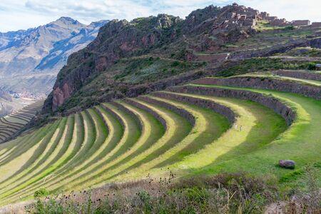 The Inca terraces at Pisac, Peru. Reklamní fotografie