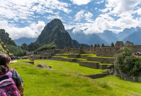 Central Plaza at the Inca site of Machu Picchu in Peru.