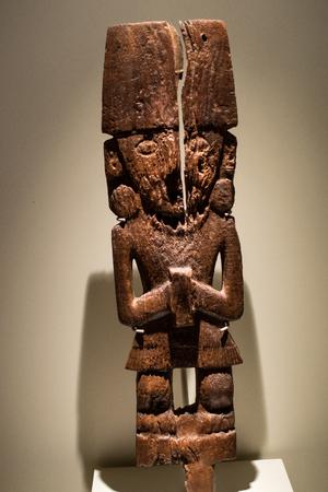 Pre Colombian Art Museum figurine artifact in Cusco, Peru.