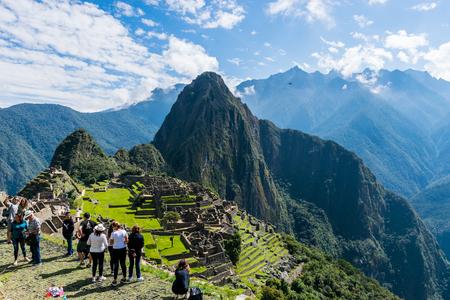 Inca site of Machu Picchu in Peru.