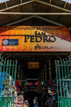 Colorful San Pedro market in Cusco, Peru.
