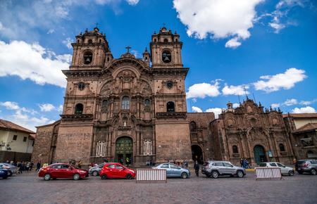 Spanish Colonial La Compania in the Plaza De Armas in Cusco, Peru.