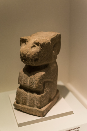 Pre Colombian Art Museum artifact in Cusco, Peru. Редакционное