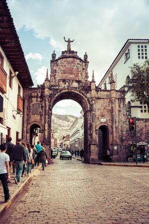 Arch of Santa Clara in Cusco, Peru.