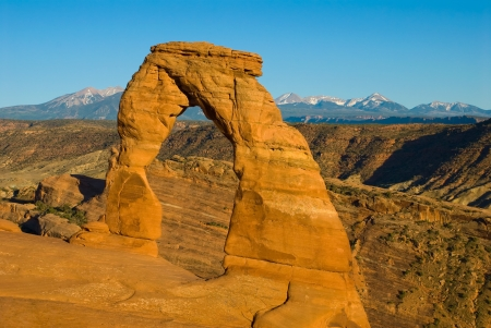 Delicate Arch in Arches National Park near Moab, Utah photo