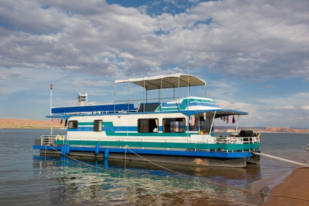Houseboat on Lake Powell Stock Photo