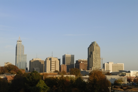 Raleigh North Carolina City Skyline Stock Photo