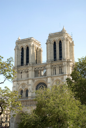Afternoon image of Notre Dame de Paris, often known simply as Notre Dame Cathedral. The structure is a Gothic cathedral on the eastern half of the ��le de la Cit�© in Paris, France. Notre Dame de Paris (French for Our Lady of Paris, mean