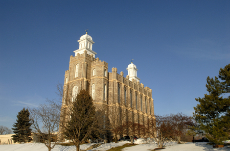 lds: The Logan Temple of the Church of Jesus Christ of Latter-day Saints is located in Logan, Utah. This temple was started in 1877 and was completed in 1884.
