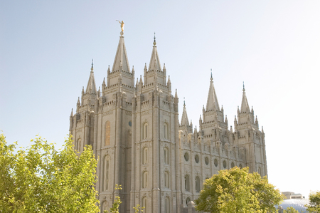 The Salt Lake Temple is located in Salt Lake City Utah and took ~40 years to build (from 1853 to 1893) and remains one of the most most visited locations in the state.  The Temple is sacred to members of the Church of Jesus Christ of Latter-day Saints (al