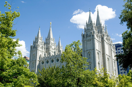 The Salt Lake Temple is located in Salt Lake City Utah and took ~40 years to build (from 1853 to 1893) and remains one of the most most visited locations in the state.  The temple is a sacred location for members of the Church of Jesus Christ of Latter-da