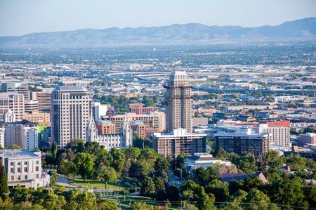 The beautiful city skyline of Salt Lake City, Utah