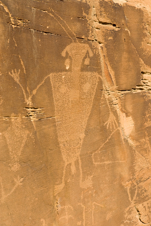 Petroglyph within the Dinosaur National Monument located right outside of Vernal, Utah.