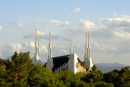 Temple of the Church of Jesus Christ of Latter-day Saints located in Las Vegas, Nevada. Stock Photo