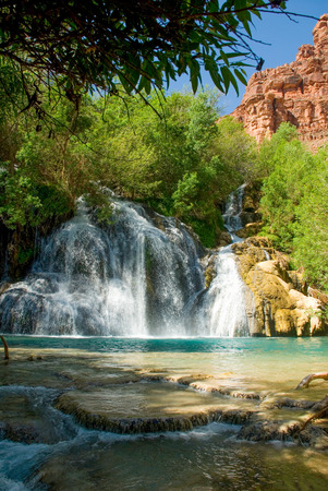 Navajo Falls in Havasu Canyon, Arizona