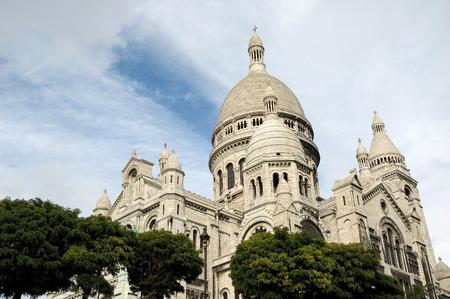 Basilica Sacre Coeur on Montmartre, Paris, France Stock Photo