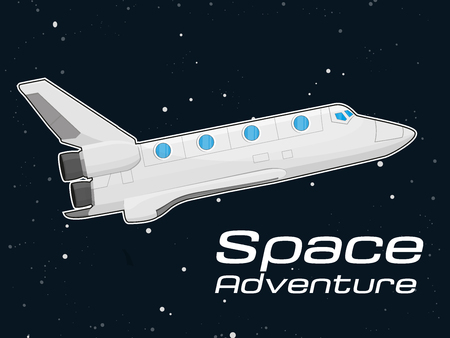 shuttle: Space shuttle Illustration