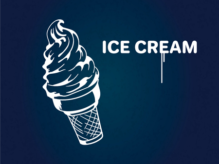 illustration of a ice cream, vector drawing