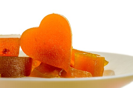 Candied fruit jelly apricot