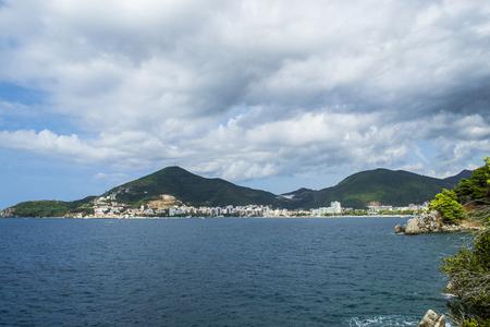 View of the sea. Sea and mountains. Adriatic Sea. Montenegro. View of Budva