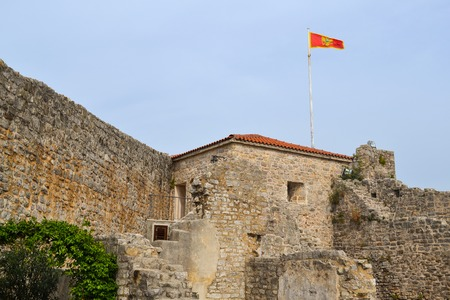 Old Budva town fortress, architecture of Montenegro.