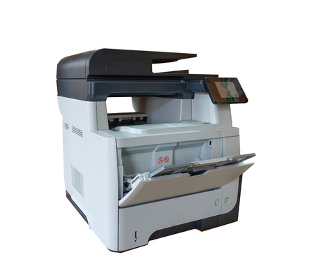 office multi function printer isolated on white