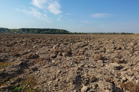 Close up of arable land soil recently ploughed for new season Stok Fotoğraf - 131030795