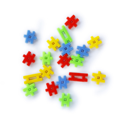 scattered: Colourful of construction toys, abstract of construction, organization scattered or business scattered.